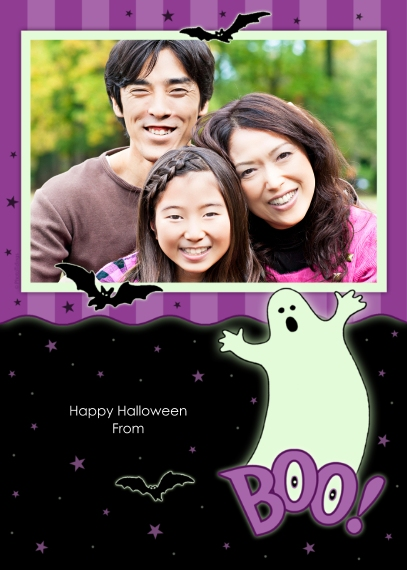 Halloween Photo Cards 5x7 Cards, Premium Cardstock 120lb, Card & Stationery -Ghost Boo!