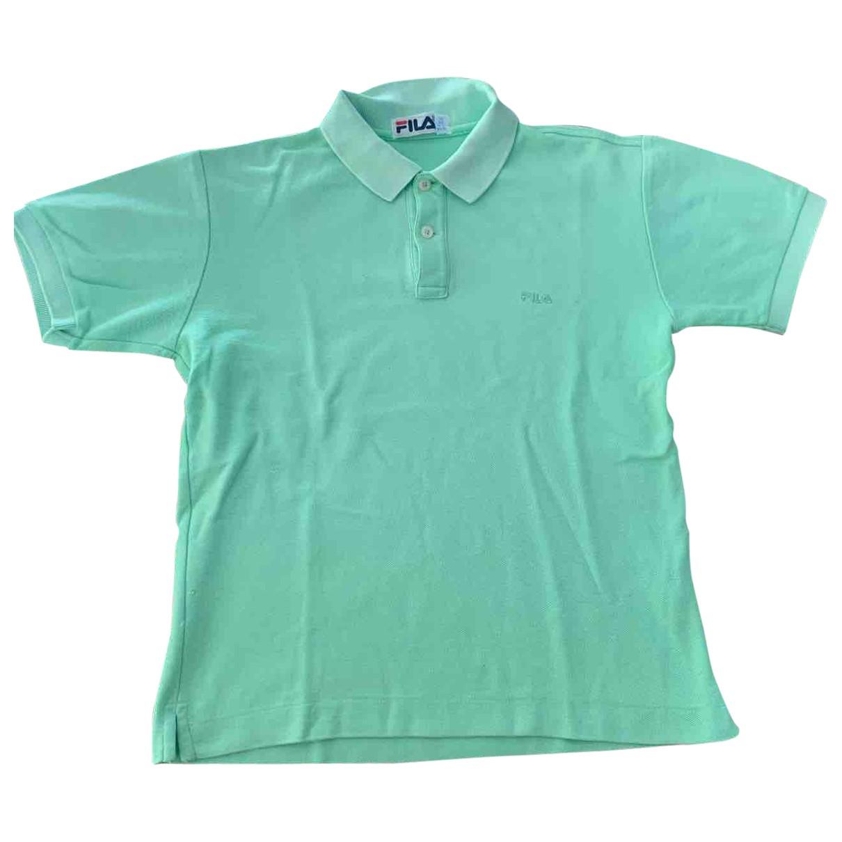 Fila \N Turquoise Cotton Polo shirts for Men XS International