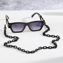 Maenner Sonnenbrille mit Acryl Rahmen und Brillenkette