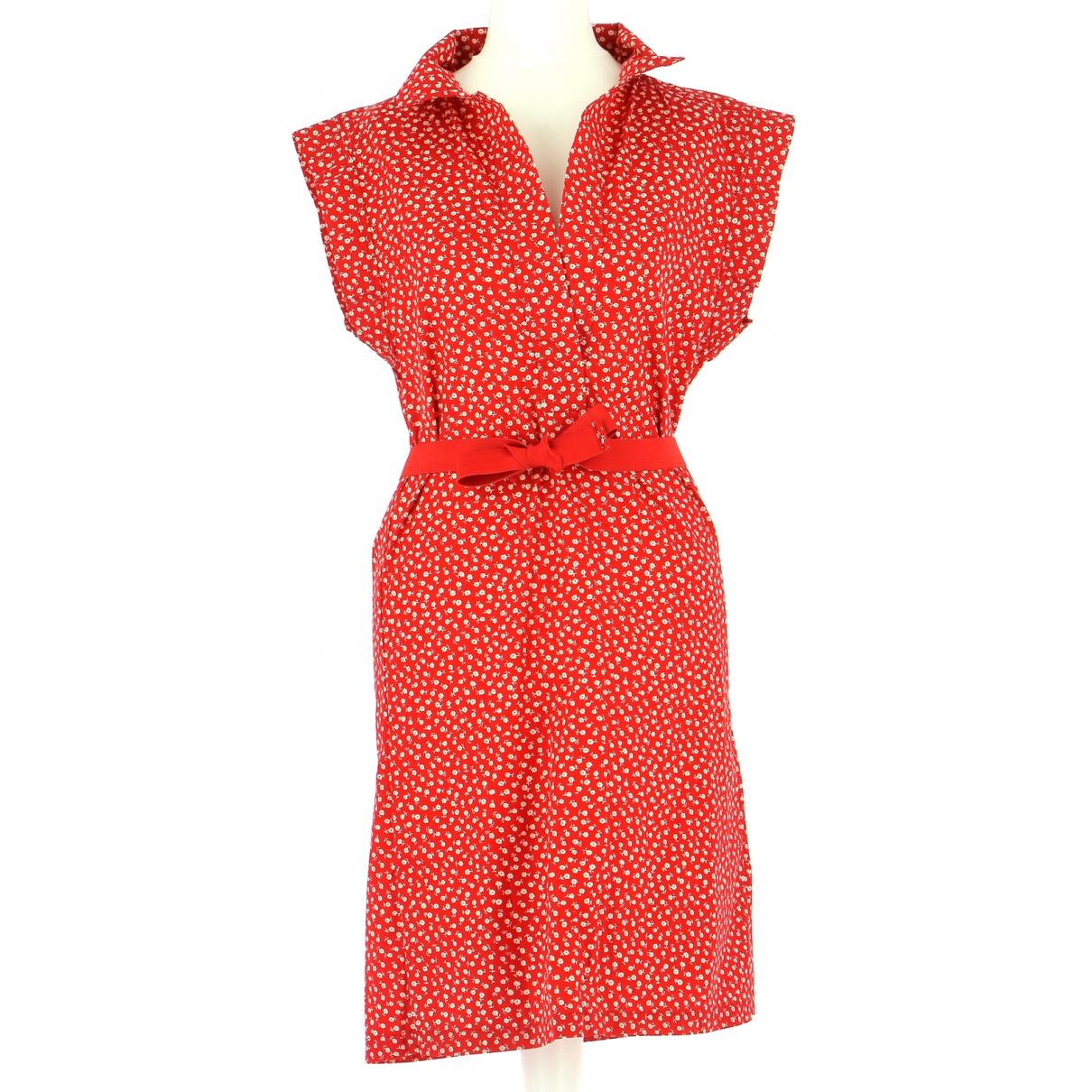 Cacharel \N Kleid in  Rot Baumwolle