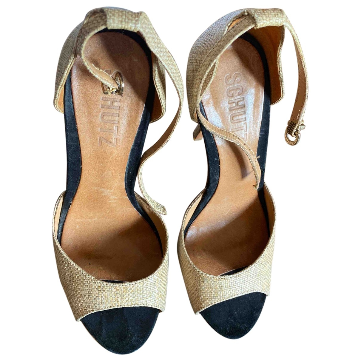 Schutz \N Beige Cloth Heels for Women 39 EU
