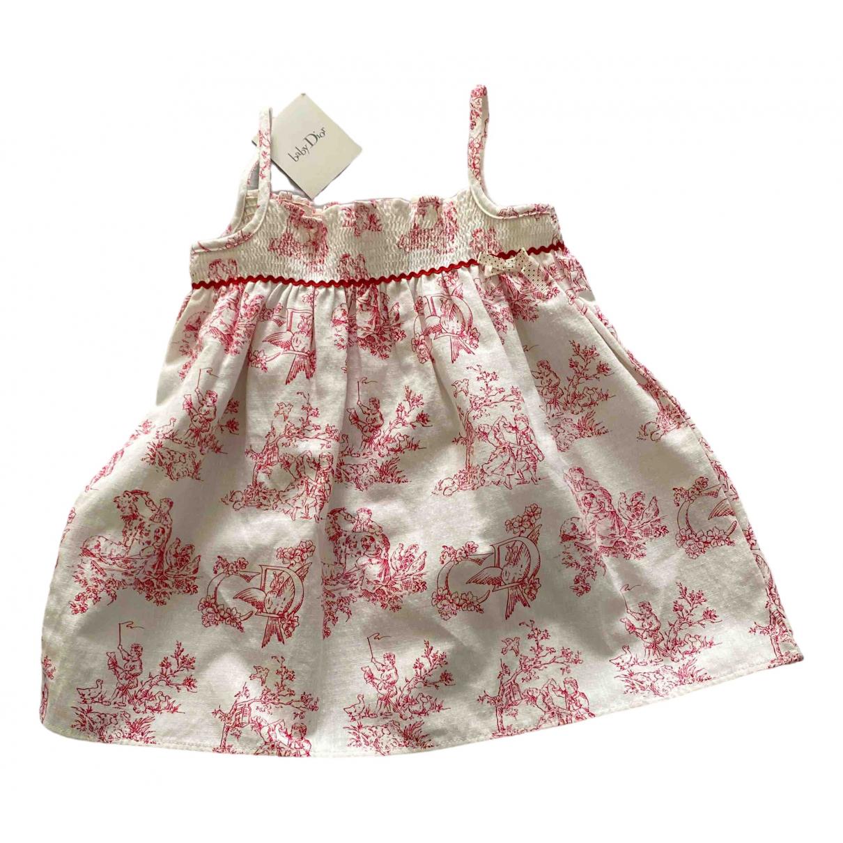 Baby Dior \N Kleid in  Rot Baumwolle