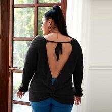 Jersey bajo girantes de espalda abierta con cordon