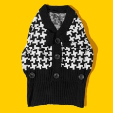 Two Tone Knit Dog Sweater