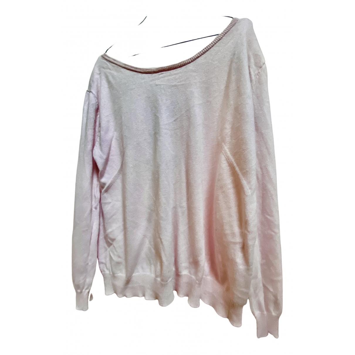 Claudie Pierlot - Pull   pour femme en coton - rose