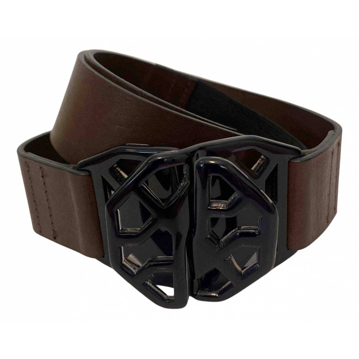 Marni N Brown Leather belt for Women 85 cm