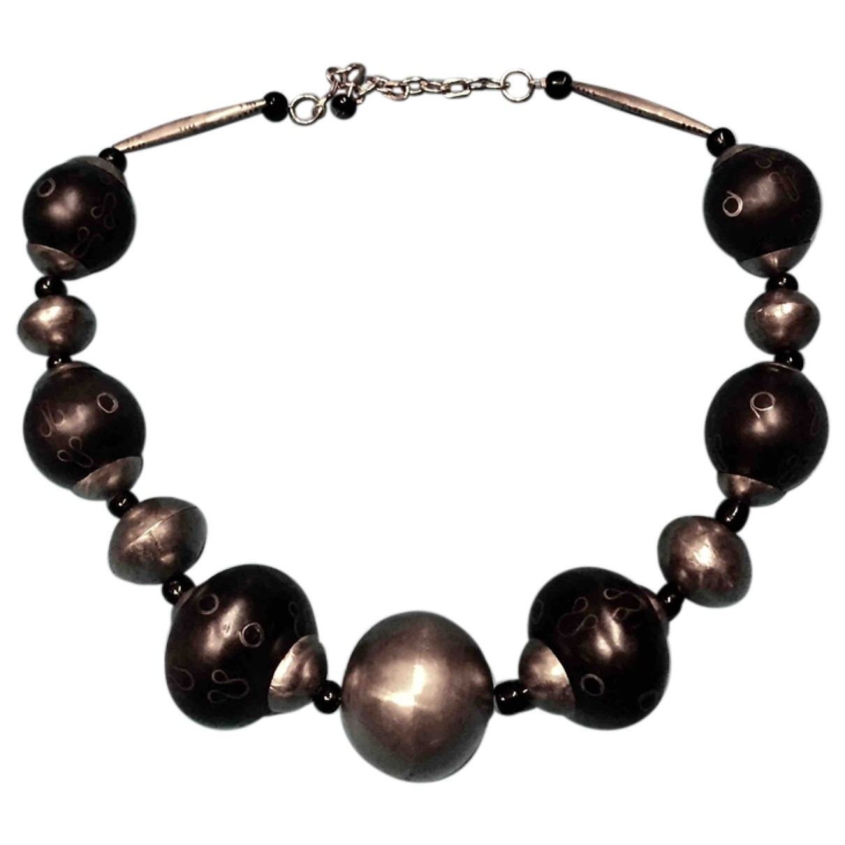 Non Signé / Unsigned \N Black Metal necklace for Women \N