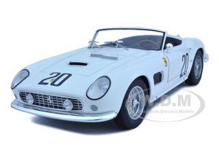 Ferrari 250 California SWB Le Mans 1969 White 20 Elite Edition 1/18 Diecast Car Model by Hotwheels