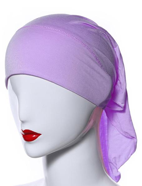 Milanoo Muslim Hat Inner Hijab Caps Headscarf Modal Underscarf Head Cover Cap
