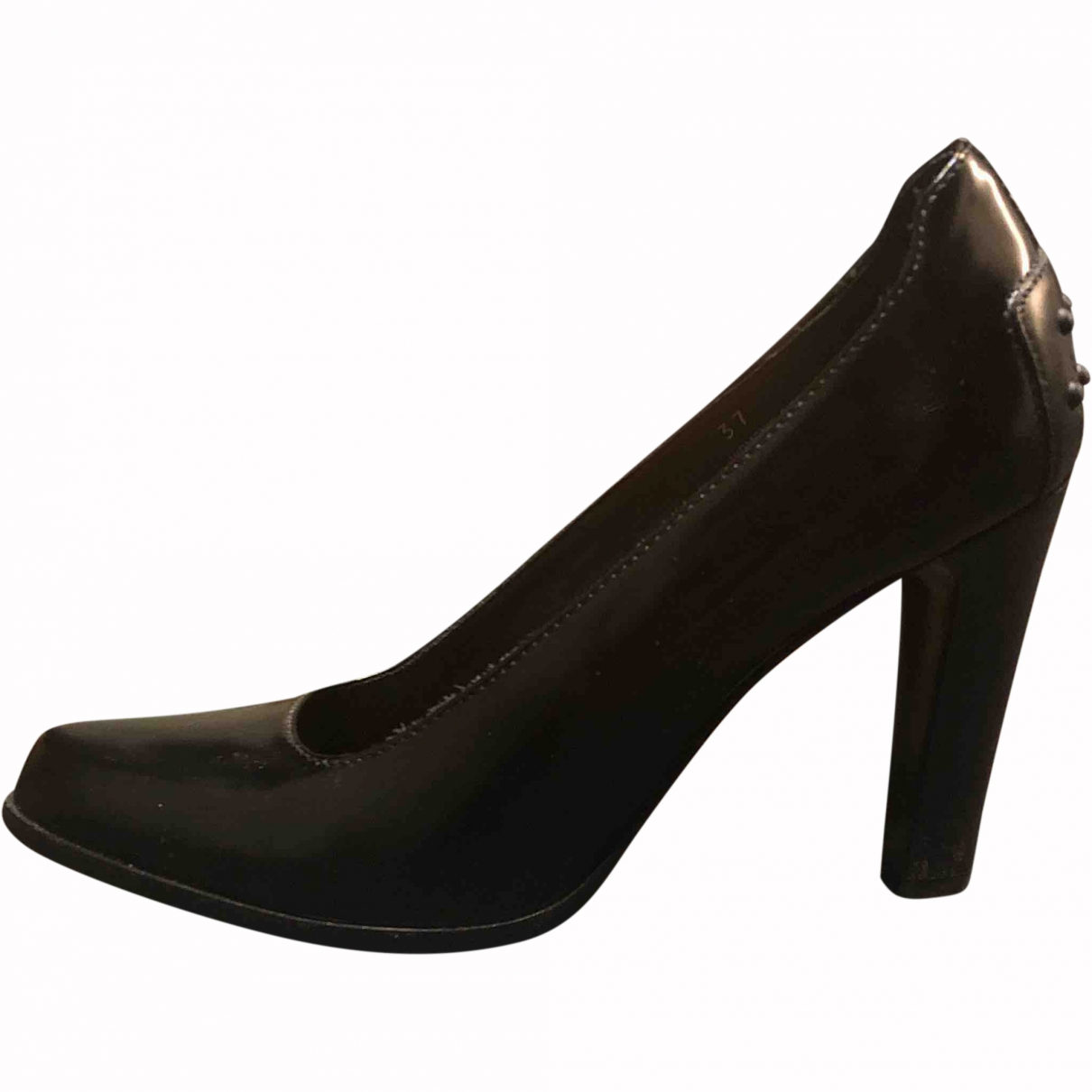 Tod's \N Black Leather Heels for Women 37.5 EU