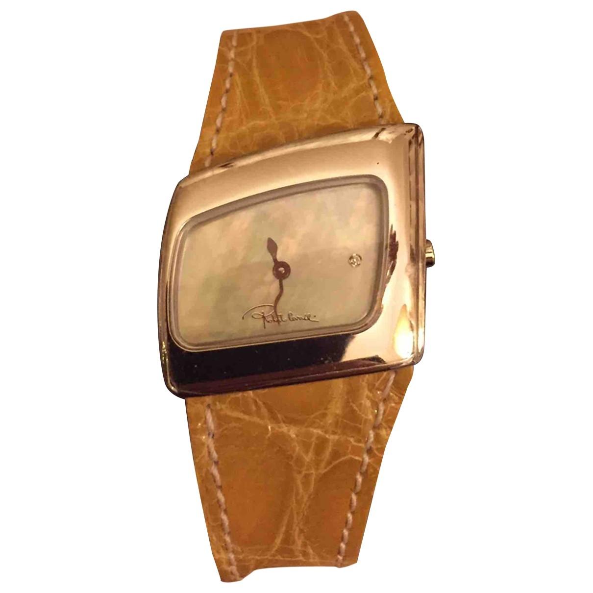 Roberto Cavalli \N Yellow Steel watch for Women \N