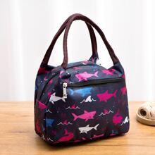 Shark Print Lunch Bag