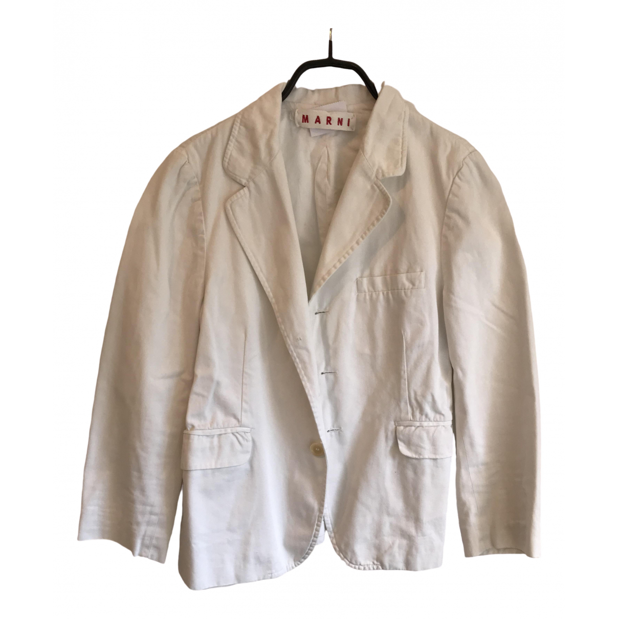 Marni \N White Denim - Jeans jacket for Women 42 IT