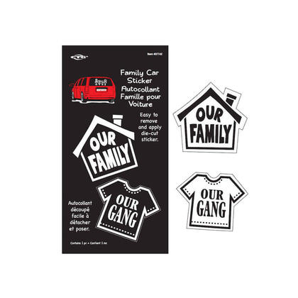 Family Car Window Decal Sticker, Our Family / Our Gang Die-Cut Vinyl Sticker