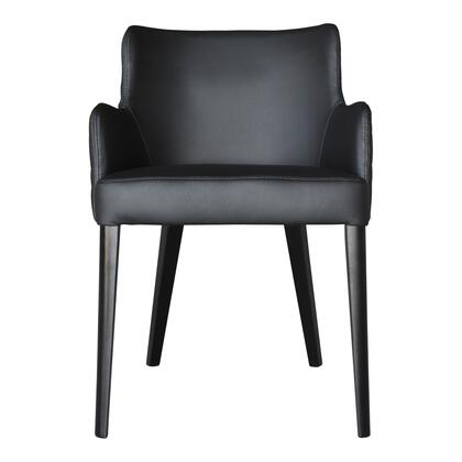 Zayden Collection GO-1004-02 Dining Chair with Solid Rubberwood Legs in Black