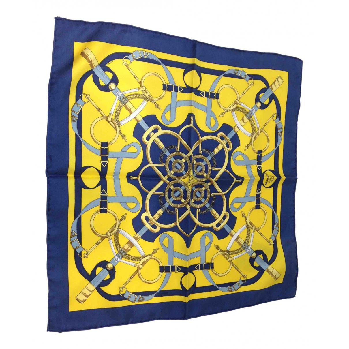 Hermès Gavroche 45 Blue Silk scarf for Women N