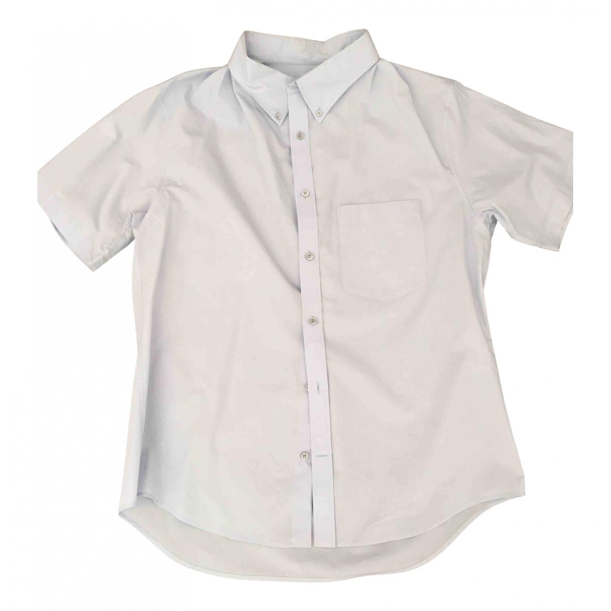 Balenciaga \N Turquoise Cotton Shirts for Men 37 EU (tour de cou / collar)