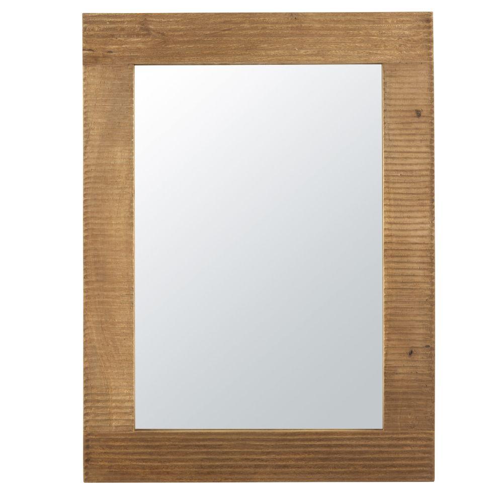 Spiegel aus Mangoholz mit Gravur 90x121