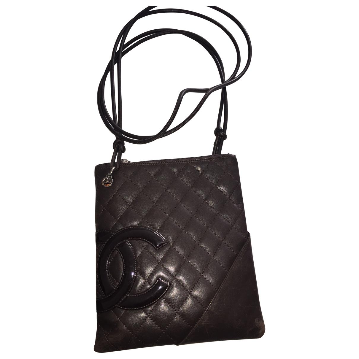 Chanel Cambon Handtasche in  Braun Leder