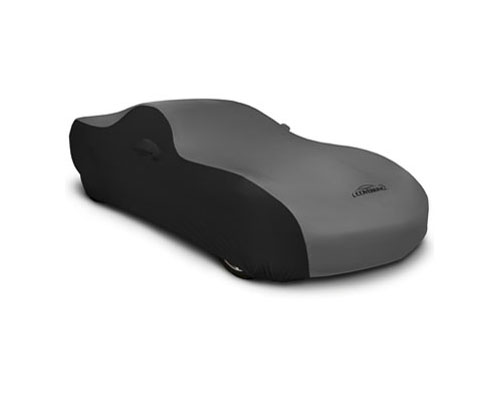 Coverking CVC3SS298FD9633 CVC3SS298 Coverking CVC3SS298FD9633 Satin Stretch 2-Tone Black Sides Gray Center Class 3 Custom Car Cover Ford Mustang 2013-