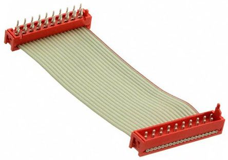 TE Connectivity Micro-Match Ribbon Cable Assembly, Micro-Match MOW Plug to Micro-Match PB Plug, 200.5mm