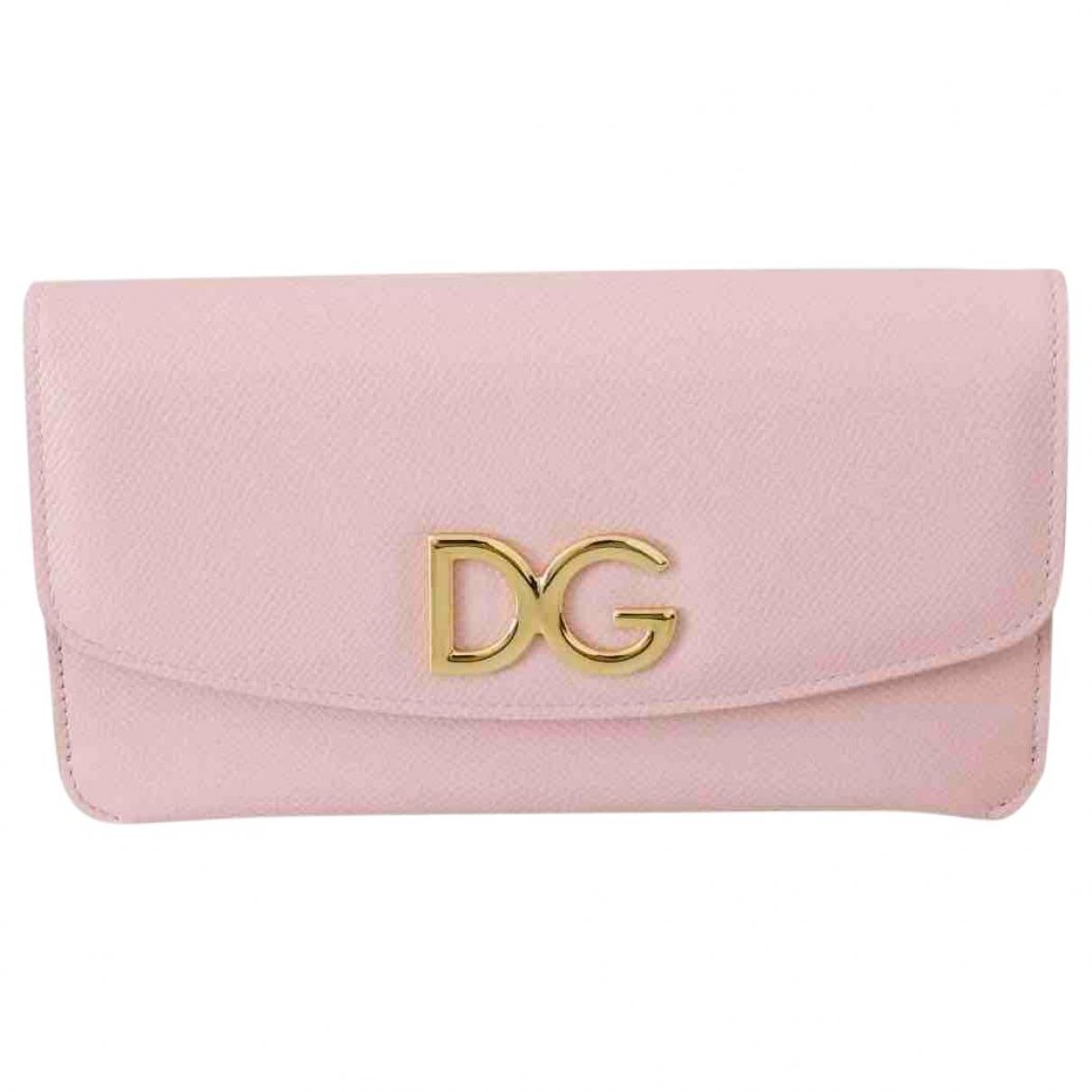 Dolce & Gabbana - Pochette   pour femme en cuir - rose
