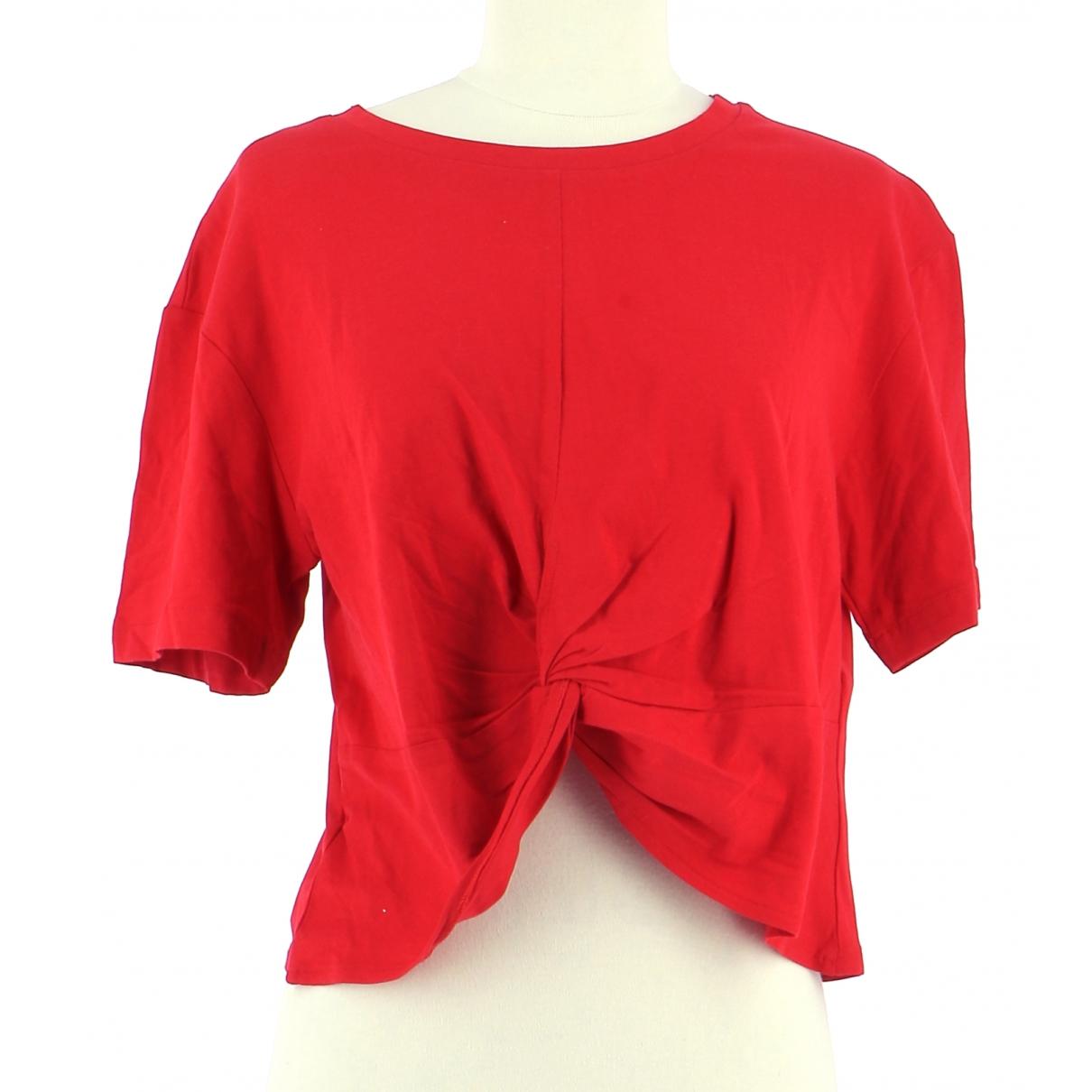 The Kooples - Top   pour femme en coton - rouge