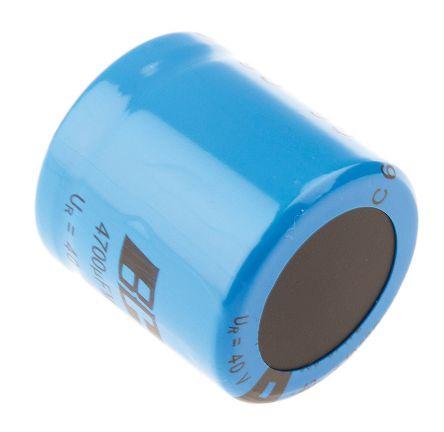 Vishay 4700μF Electrolytic Capacitor 40V dc, Through Hole - MAL205857472E3