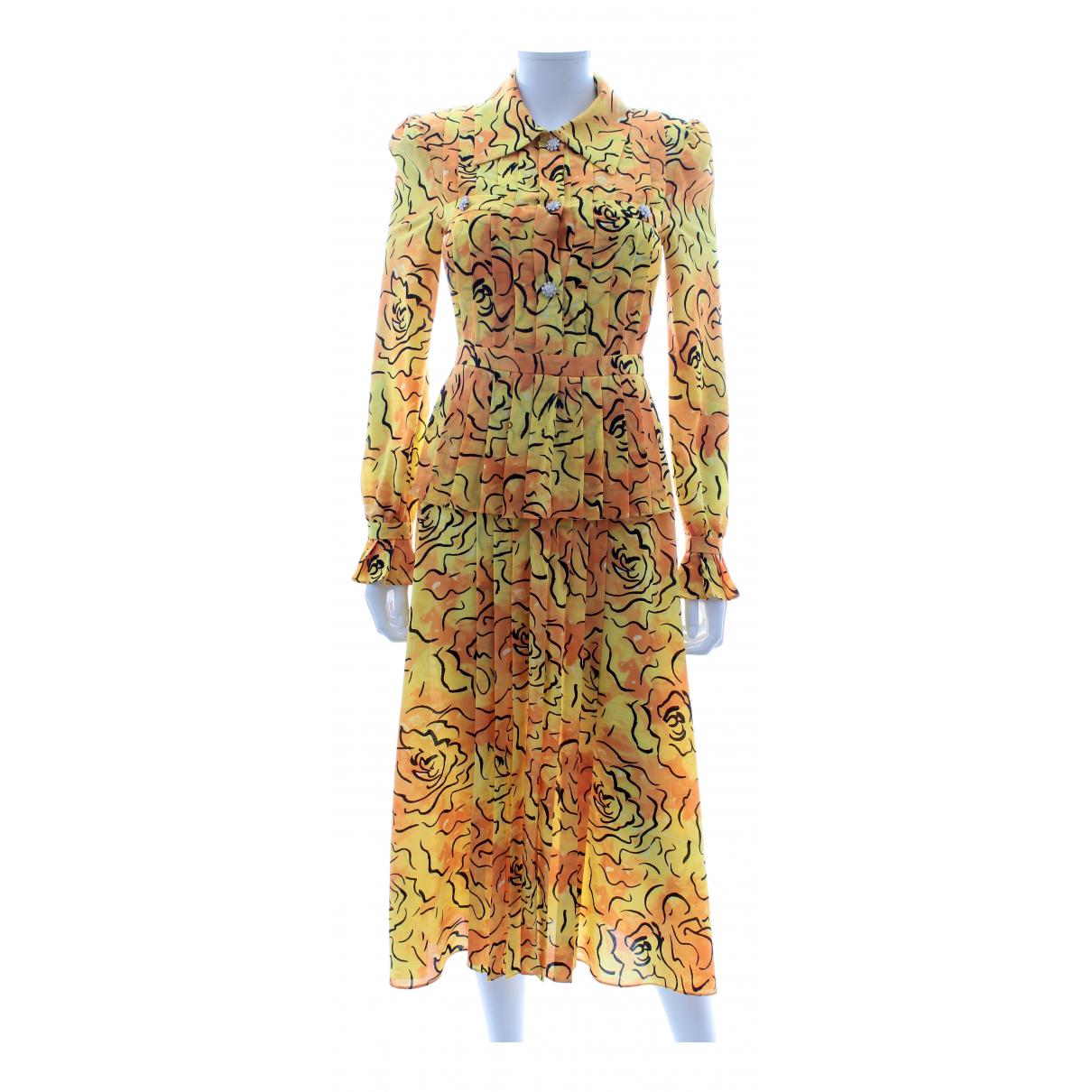 Alessandra Rich - Robe   pour femme en soie - jaune