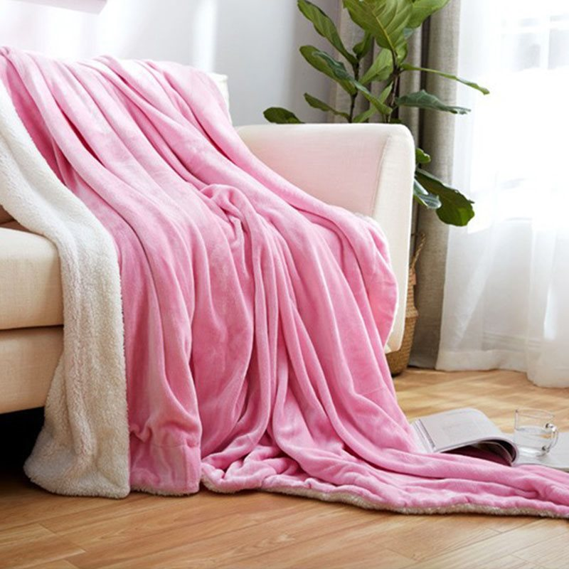 Plain Silky Soft Blanket Thick Warm Flannel and Fleece Blanket