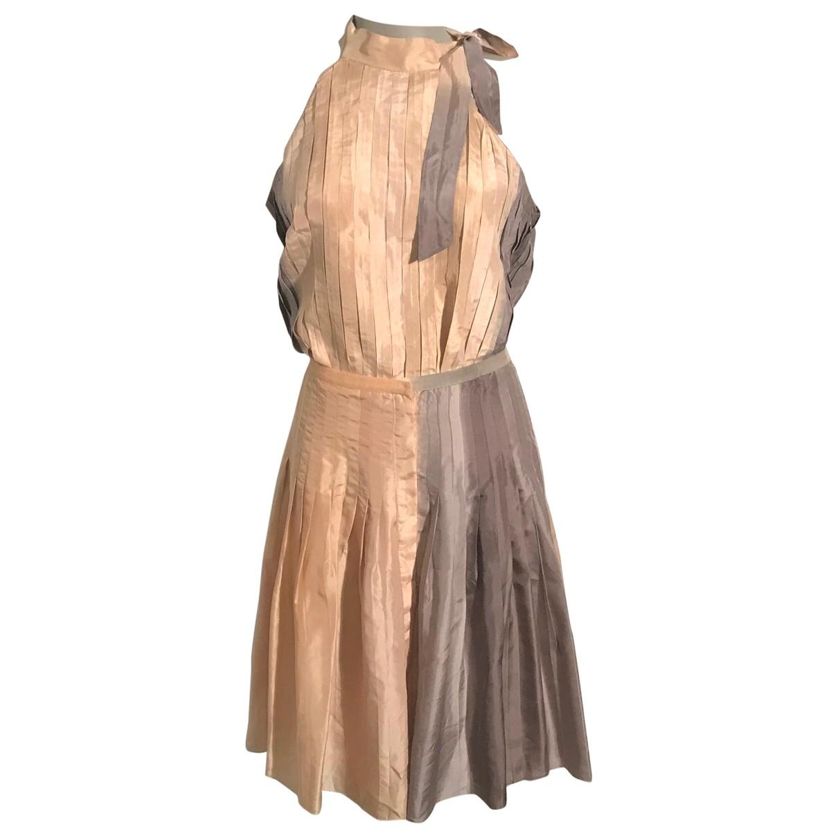 Mini vestido de Seda Massimo Dutti
