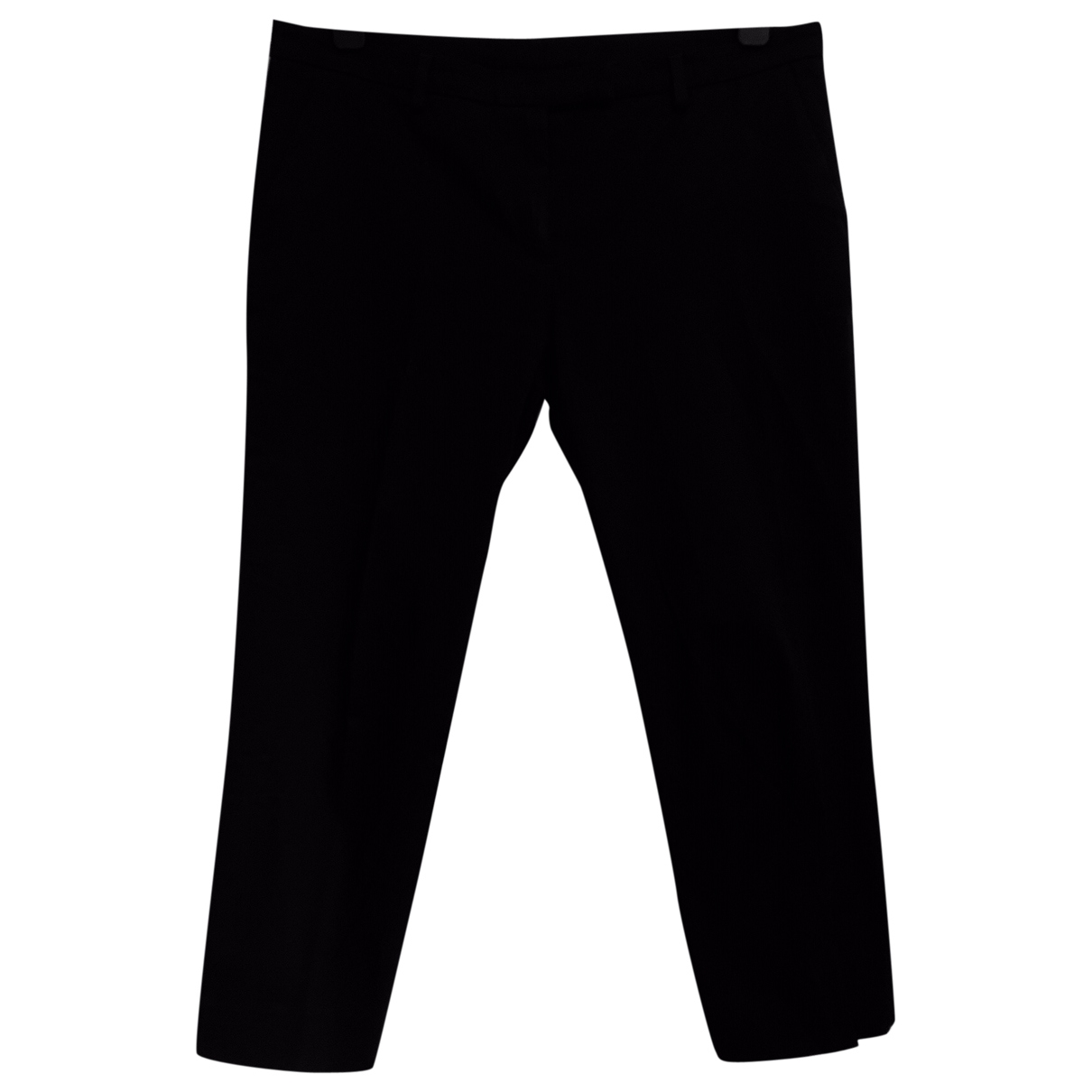 Mcq \N Black Cotton Trousers for Women 44 IT