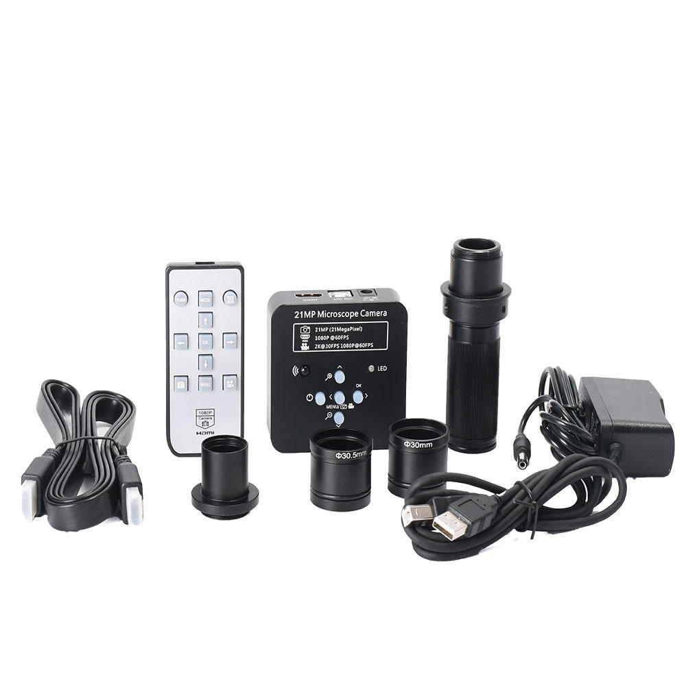 HAYEAR 21MP Industrial Electron Microscope with Lens + AdapterCamera with HDMI USB2.0 Two Output
