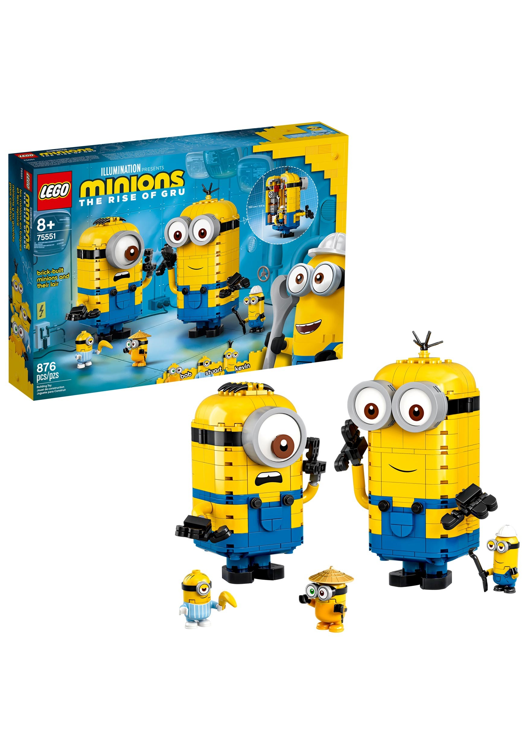 LEGO Brick Minions Brick-Built Minions and Their Lair