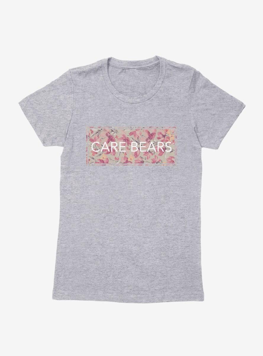 Care Bears Classic Floral Script Womens T-Shirt