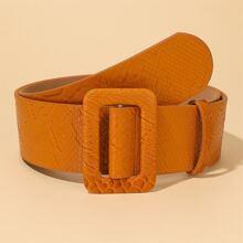 Cinturon con hebilla cuadrada