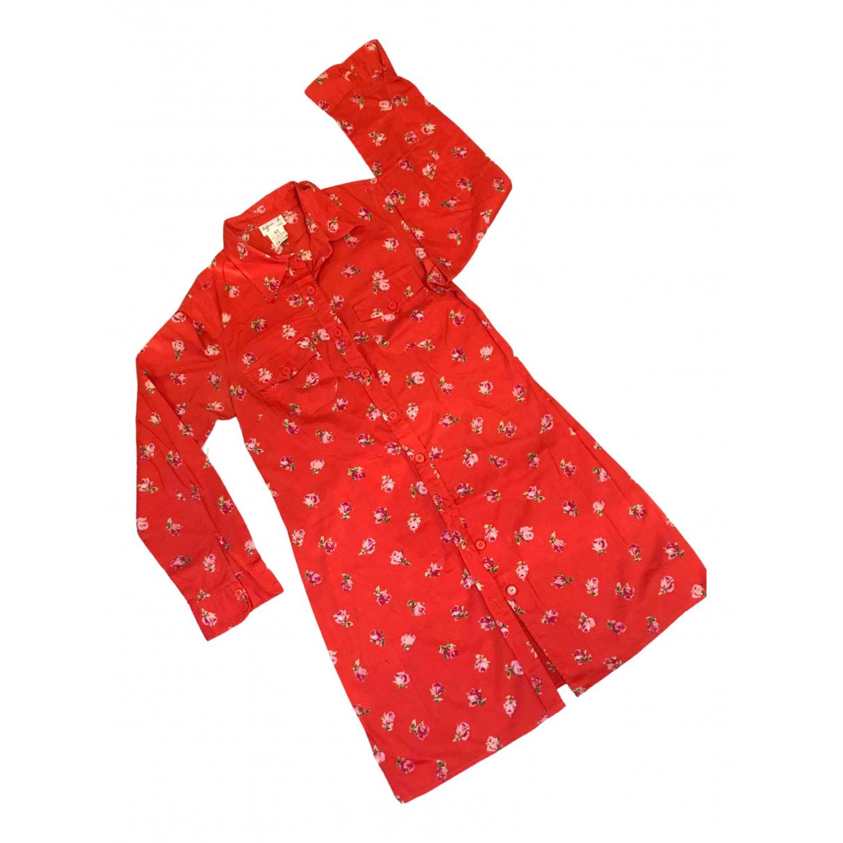 Agnès B. \N Red Cotton dress for Women 42 FR