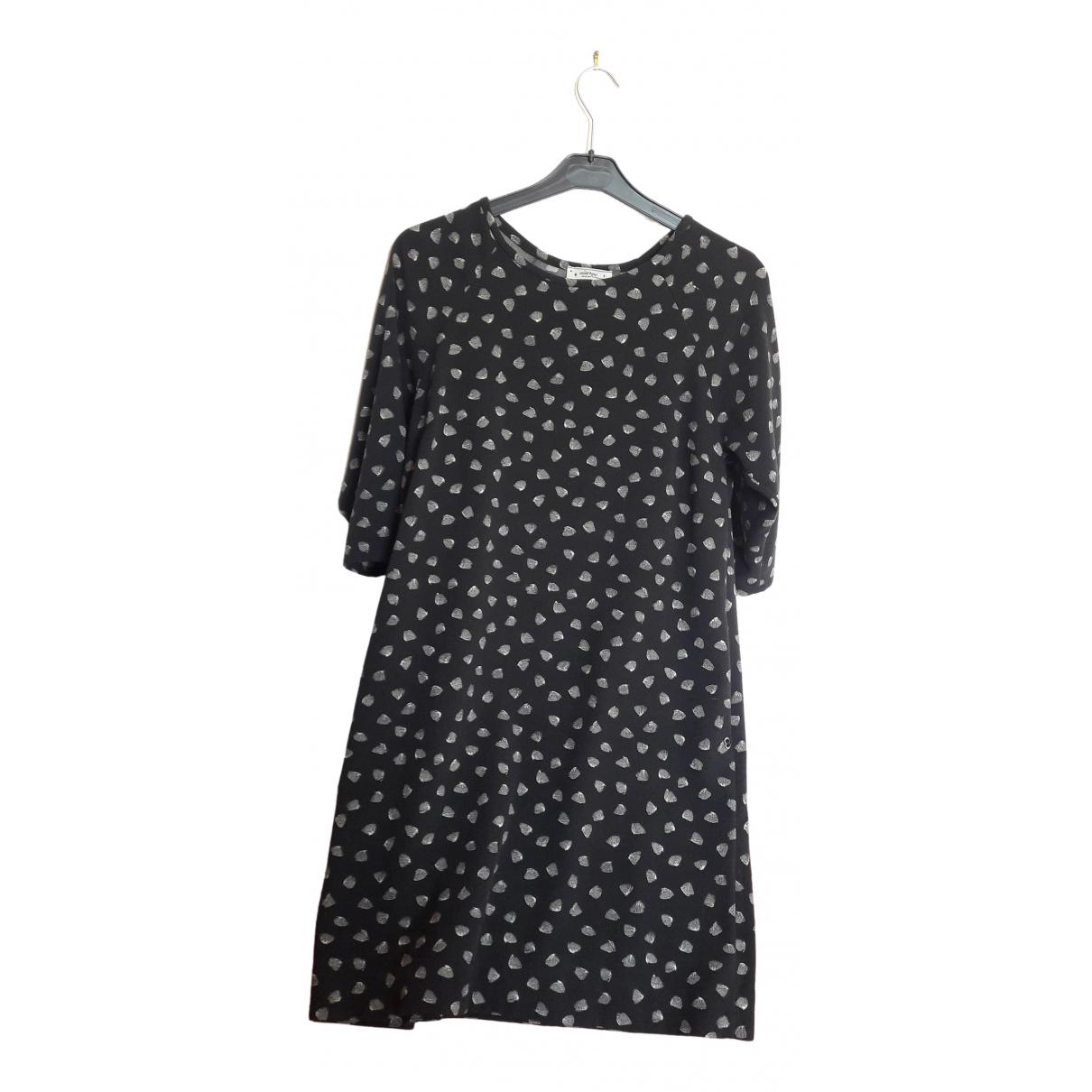 Ottod'ame \N Black Cotton dress for Women 40 FR