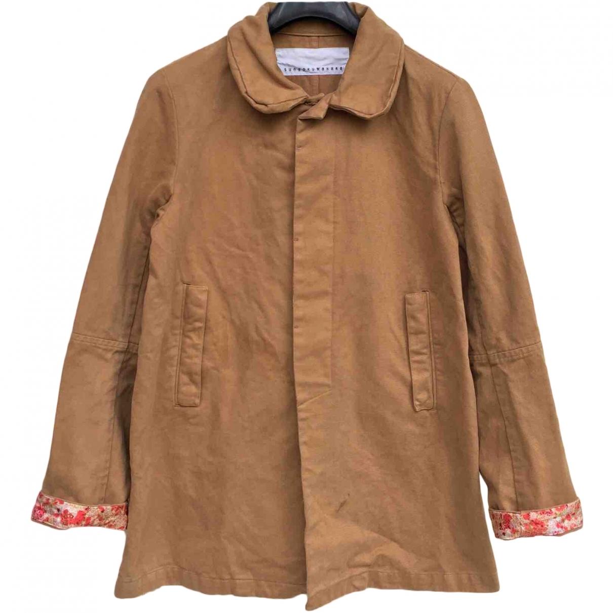Issey Miyake \N Brown Cotton coat  for Men 48 IT