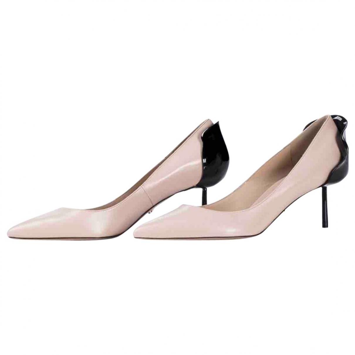 Le Silla \N Beige Leather Heels for Women 38 EU