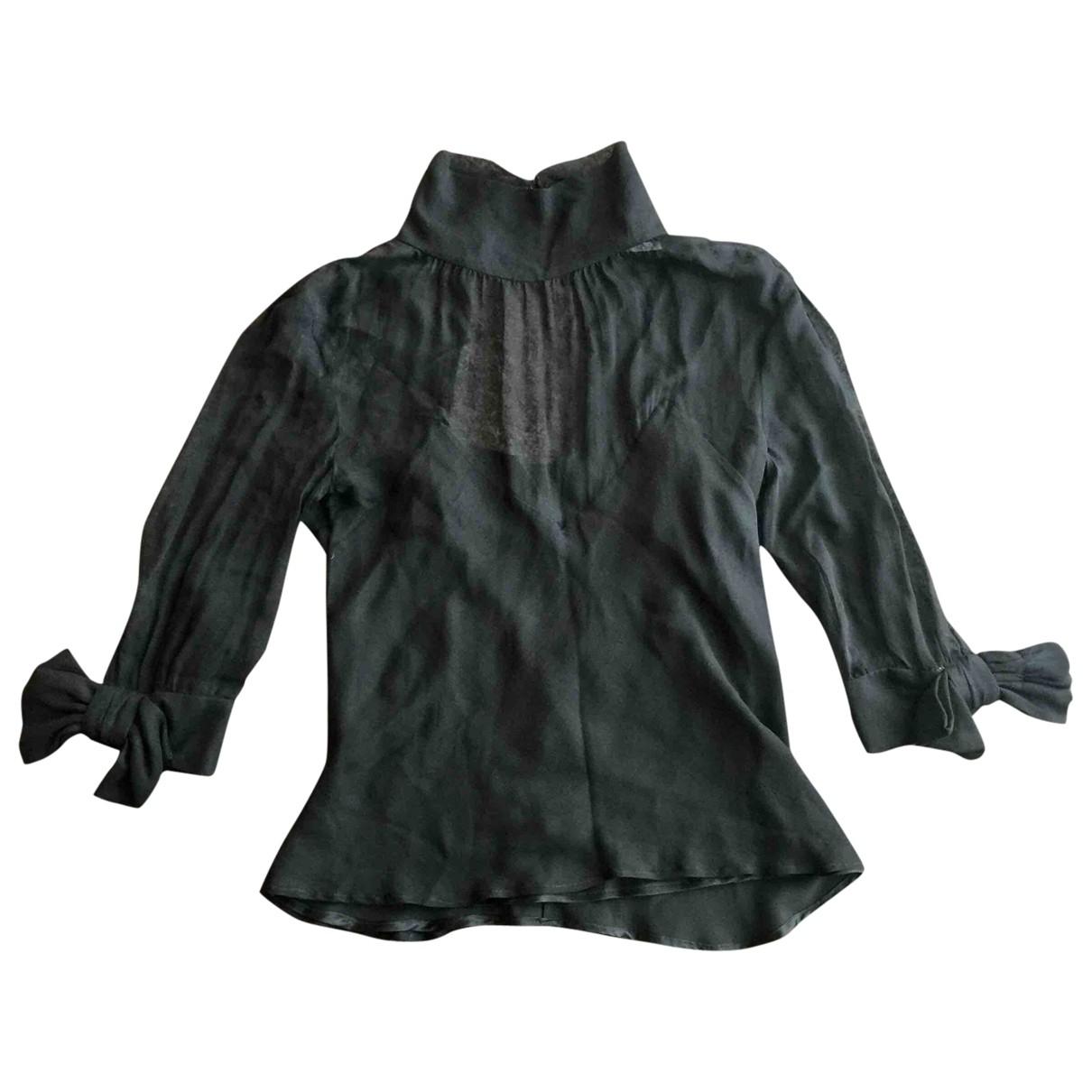 Viktor & Rolf - Top   pour femme en soie - noir