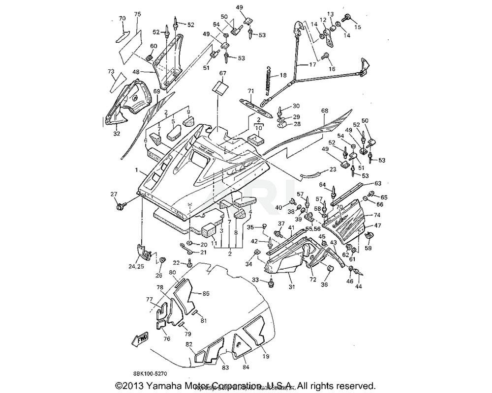 Yamaha OEM 88F-2196F-00-00 BRACKET 3