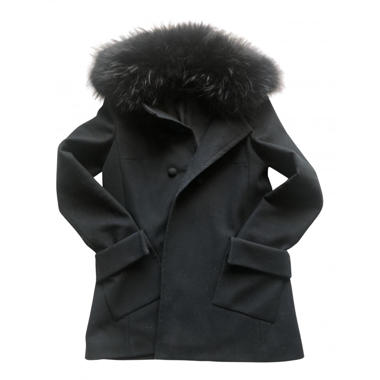 Tara Jarmon N Black Wool coat for Women 38 FR
