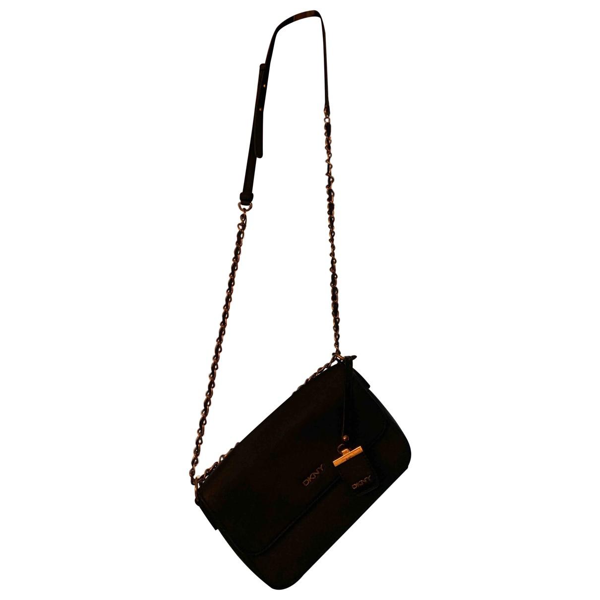 Dkny \N Black Leather Clutch bag for Women \N
