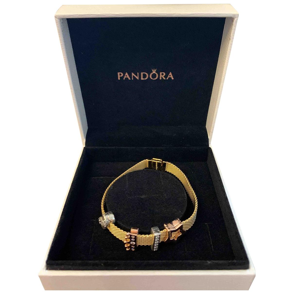 Pandora - Bracelet   pour femme en metal - dore