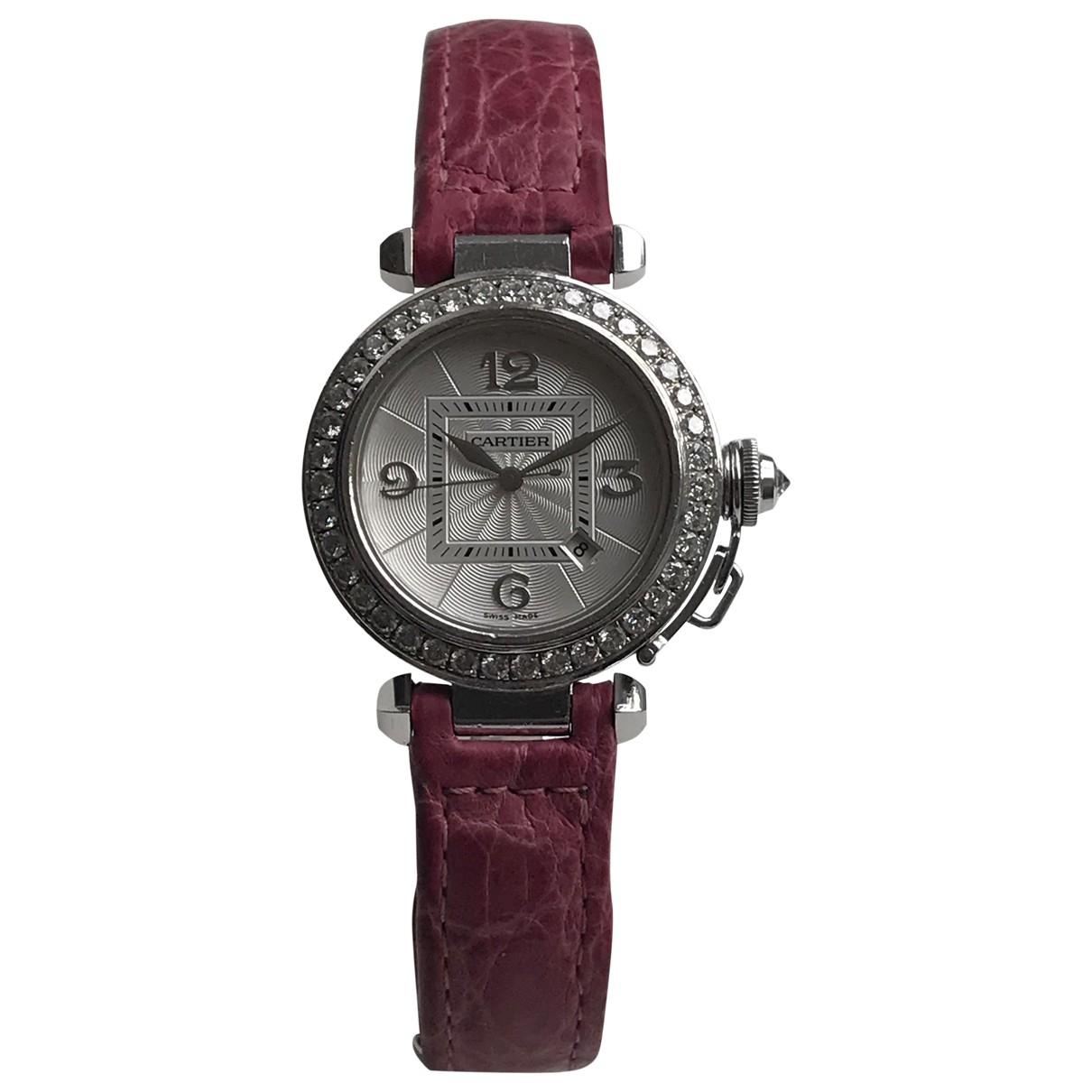 Reloj Pasha de Oro blanco Cartier
