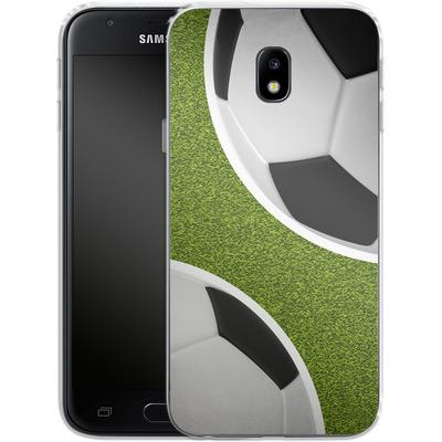 Samsung Galaxy J3 (2017) Silikon Handyhuelle - Two Footballs von caseable Designs