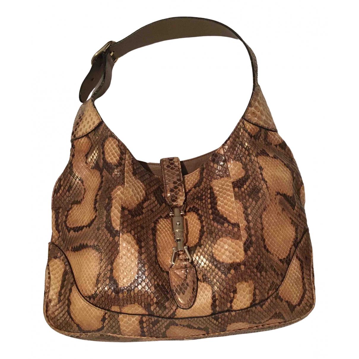Gucci Jackie Brown Leather handbag for Women \N