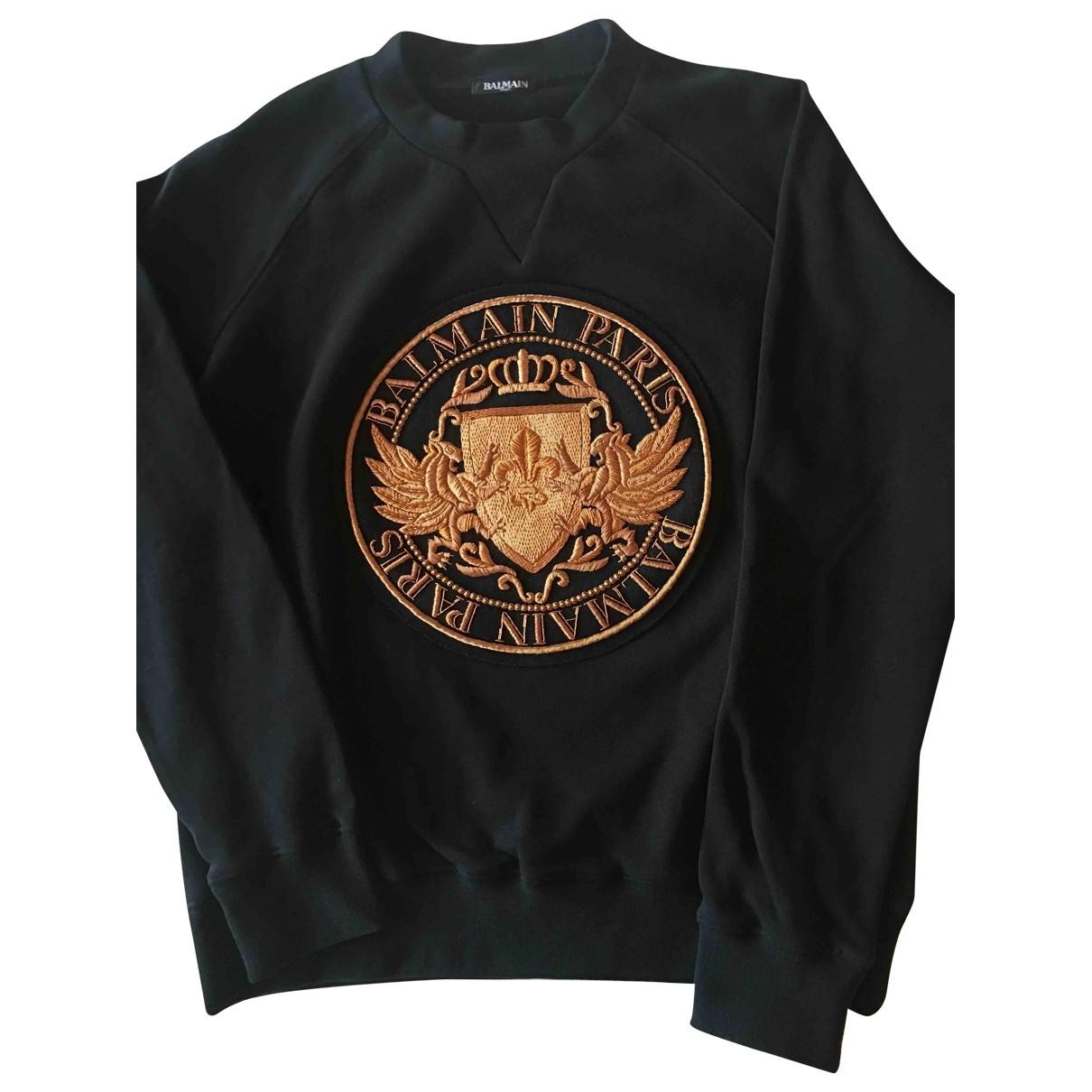 Balmain \N Black Cotton Knitwear for Women XL International