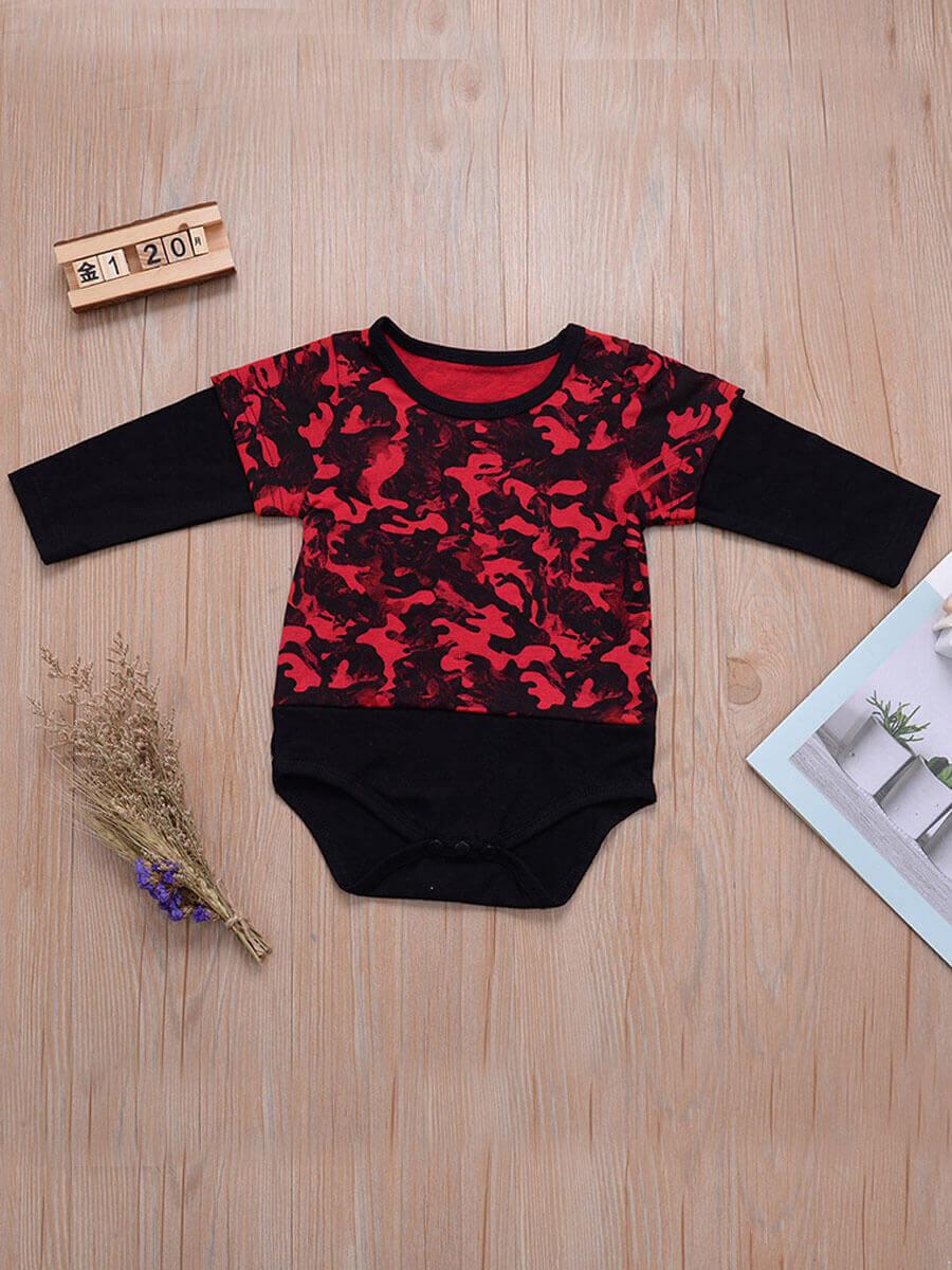 LW Lovely Street O Neck Print Black Girl Bodysuit